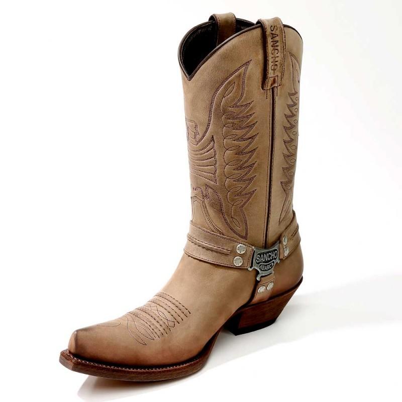 0b464afb1 Sancho Abarca 9931 Herren Cowboy Stiefel - Nairobi Ceniza braun